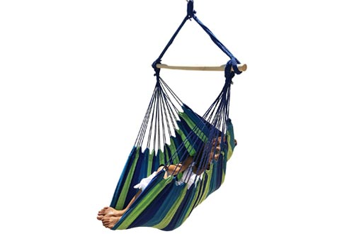 Hammock Sky Large Brazilian Hammock Chair Quality Cotton Weave for Superior Comfort & Durability
