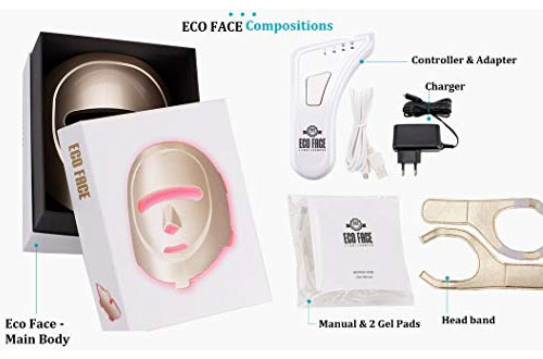 ECO FACE Near-infrared LED Photon Mask for Home LED Therapy
