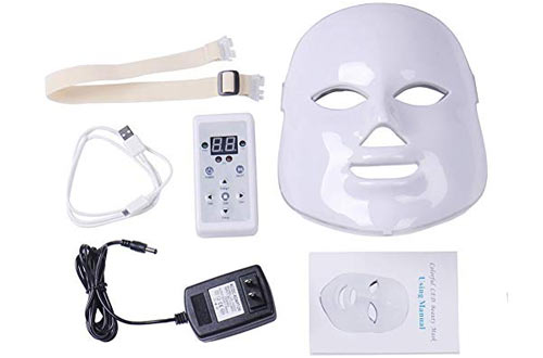Dermapeel 7 Colors LED Light Photon Face Neck Mask Rejuvenation Skin Therapy Wrinkles