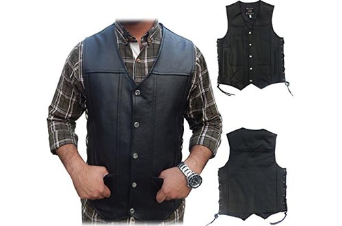 concealed carry for firearms Men/'s Outlaw Leather Motorcycle Club /& Biker Vest