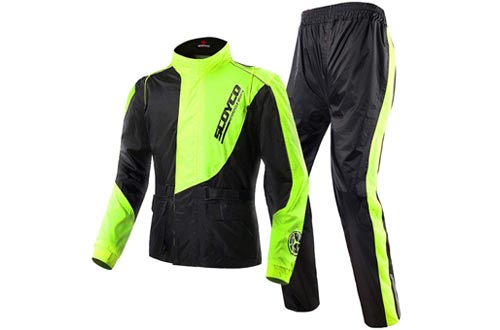 Scoyco RC01 Motorcycle Rain Coat Pants Set Protective Gear