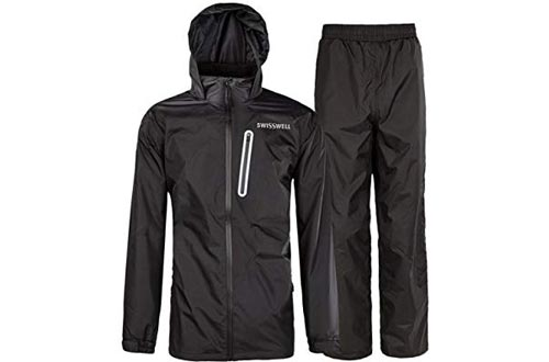 SWISSWELL Rain Suit for Men Waterproof Hooded Rainwear