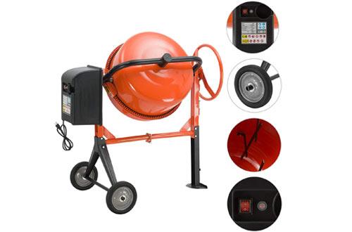 SUNCOO 5 Cu Ft Electric Concrete Mixer Cement Portable for Mixing Mortar