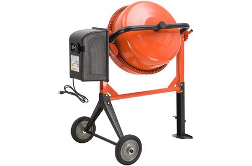 SUNCOO 4.2 Cu Ft Portable Electric Concrete Cement Mixer