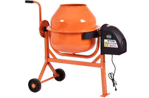 Goplus 1/2HP Electric Concrete Cement Mixer Barrow Machine for Mixing Mortar