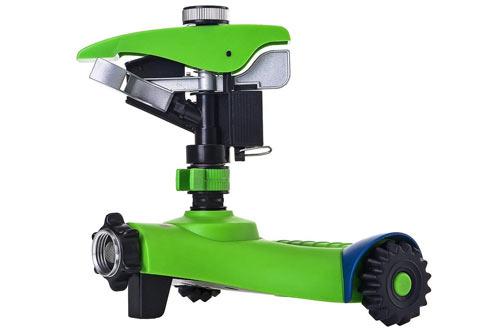 Greenmount Lawn Sprinkler with 2 Interchange Heads, Anti-tipping Garden Water Sprinkler