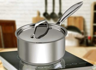 Utopia Kitchen Compatible Stainless Steel Saucepan with Lid