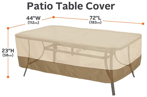 Classic Accessories Veranda Rectangular/Oval Patio Table Cover