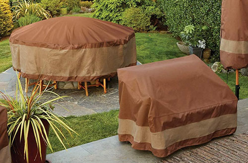 Duck Covers Ultimate Rectangular/Oval Patio Table with Chairs Cover