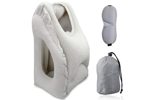 Travel Pillow, Portable Head Neck Rest Inflatable Pillow from HOMCA