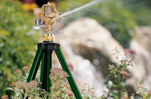 Orbit Heavy Duty Brass Lawn Impact Sprinkler on Tripod Base