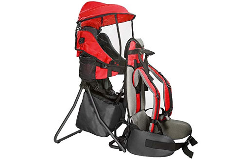 Clevr Cross Country Baby Backpack Hiking Carrier with Stand and Sun Shade