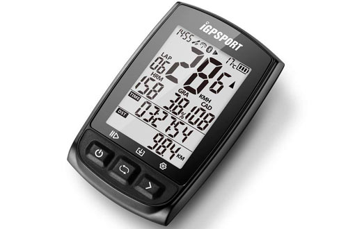 GPS Bike Computer Big Screen with Support Heart