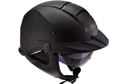 LS2 Helmets Rebellion Unisex-Adult Half Helmet Motorcycle Helmet