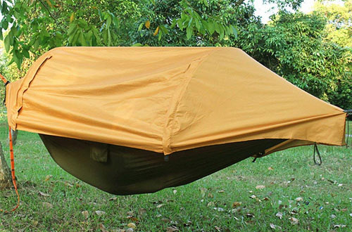 Patent Camping Hammock with Mosquito Net and Rainfly Cover