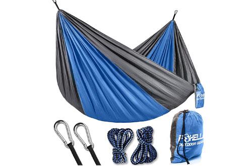 Foxelli Camping Hammock – Lightweight Parachute Nylon Portable Hammock