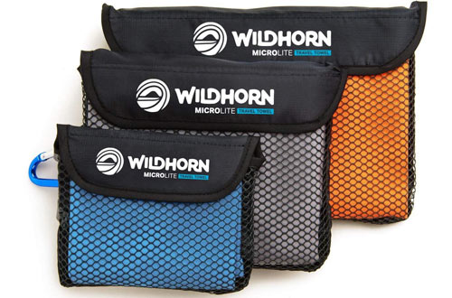 WildHorn Outfitters Microlite Travel Towel Bundle for Camping, Hiking & Backpacking