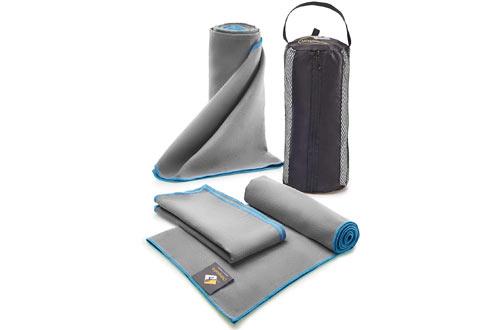 OlimpiaFit Set of 3 Microfiber Towels - Best for Gym Travel Camp