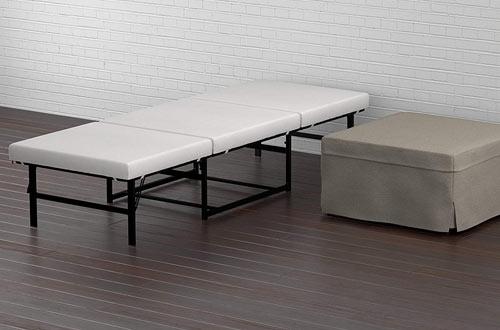 Handy Living Space Saving Folding Ottoman Sleeper Guest Bed