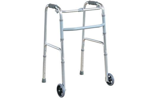 Folding Walker with Front Wheels