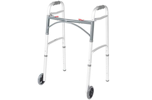 Drive Medical Deluxe Folding Walker with Wheels