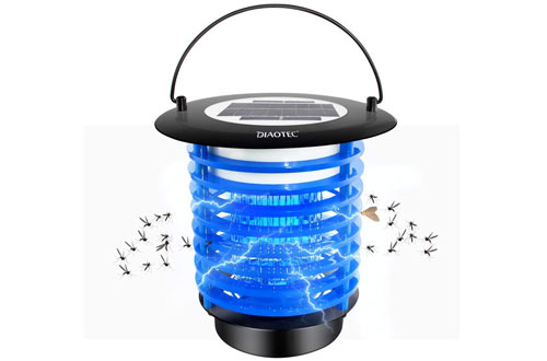 Diaotec Solar Powered Bug Zapper, Mosquito Killer Fly Insect Trap