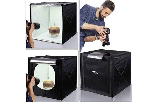Amzdeal Photo Light Box 32 x 32in Photo Studio Professional Photography Tent with LED Light