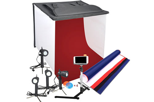Emart Photography 24 x 24 Inches Table Top Photo Studio Continous Lighting LED Light Shooting Tent Box