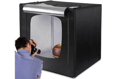Amzdeal Light Box Photo Studio 20 x 20 inch Professional Photography Tent with LED Ligh