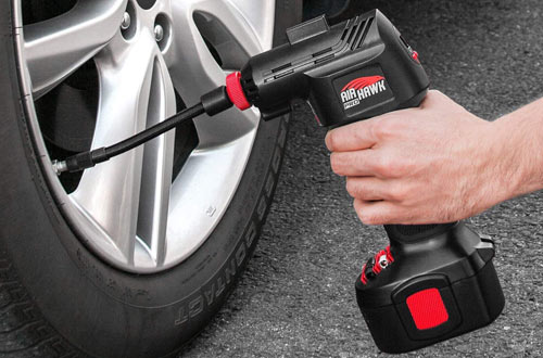Automatic Cordless Tire Inflator Portable Air Compressor
