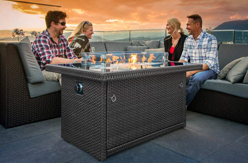 Outland Living Series 401 Grey 44-Inch Outdoor Propane Gas Fire Pit Table