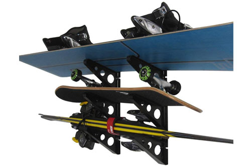 Top 10 Best Wall-Mounted Snowboard & Ski Racks Reviews In 2019