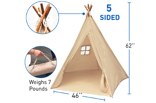 EasyGoProducts Indoor Teepee Tent, Kids