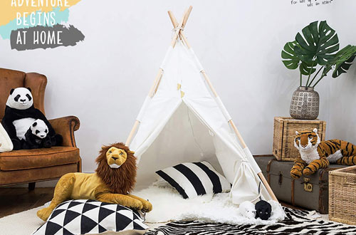 Tazz Toys Kids Teepee Tent for Kids with Fairy Lights