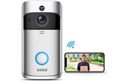 EKEN Video Doorbell 2 720P HD WiFi Camera Real-Time Video