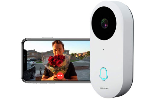 Wi-Fi Enabled Smart Video Camera Wireless Doorbell Button Chime