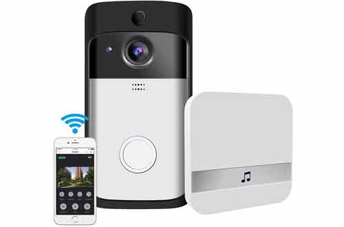 Video Doorbell, GEREE WiFi Smart Wireless Doorbell 720P HD Security Camera
