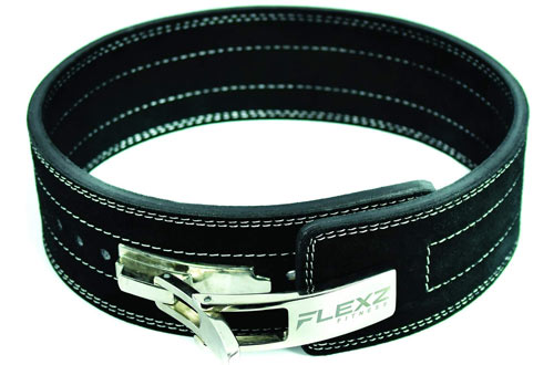 Flexz Fitness Lever Buckle Powerlifting Belt 10mm Weight Lifting Black Small