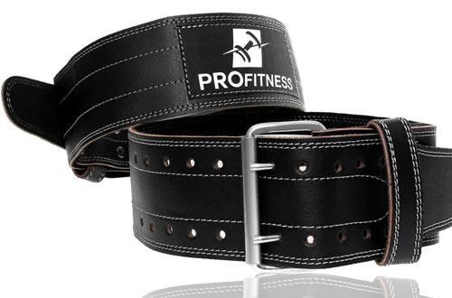 ProFitness Genuine Leather Workout Belt/Lower Back Support