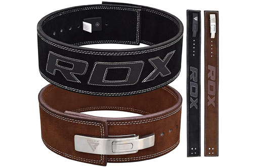 RDX Leather Weightlifting Belt for Gym