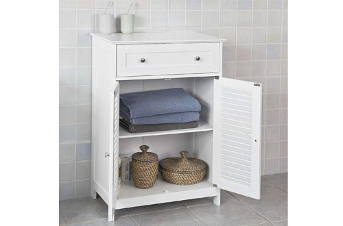 Haotian Bathroom Vanity SetWhite Bathroom Storage Cabinet with Drawer