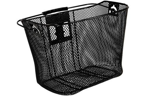 Ohuhu Lift-Off Front Bike Basket Black High Quality Heavy Duty