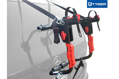 Deluxe Black 1-Bike Trunk Mount Bicycle Carrier Rack