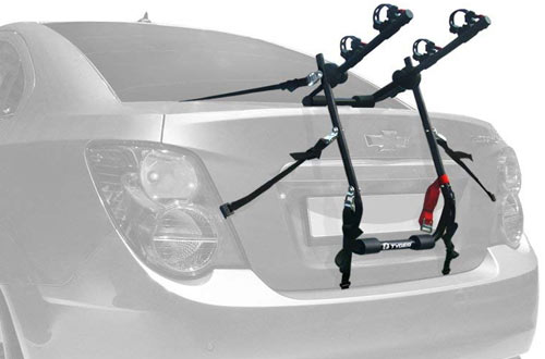 Deluxe Black 2-Bike Trunk Mount Bicycle Carrier Rack