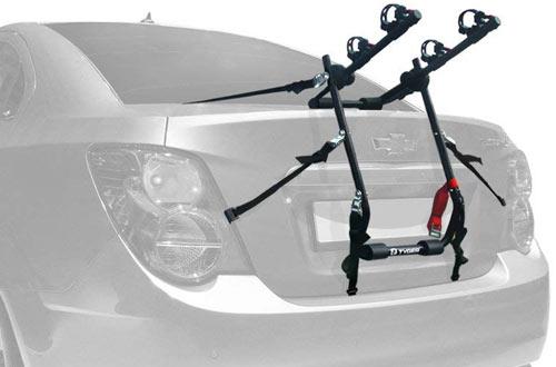 Deluxe Black 2-Bike Trunk Mount Bicycle Carrier Rack