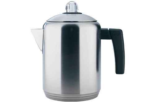 Polished Stainless Steel Stovetop Percolator