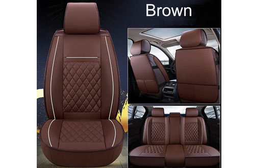INCH EMPIRE Easy to Clean PU Leather Car Seat Cushions