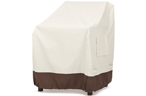 AmazonBasics Patio Dining Chair Cover with Arm