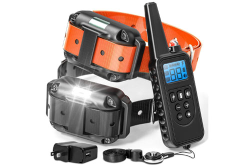 F-color Dog Training Collar with Remote for Small & Medium Dogs
