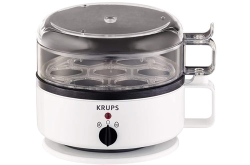 KRUPS F23070 Egg Cooker with Water Level Indicator, 7-Eggs capacity